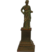 Early 19th Century Bronze Statuette on Iron Plinth