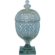 19th Century English Cut Glass Acorn-shaped Covered Sweetmeat Dish or Compote