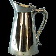 19th Century English Arts and Crafts Style Silverplate Jug by Bristol Goldsmiths Alliance