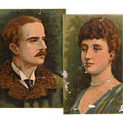 SOLD 19th Century Sweets Tin Box with Portraits of Marquis of Lorne and Princess Louise