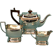 Antique English Georgian Style Silverplate Bachelor Tea Set by Barker-Ellis, Birmingham