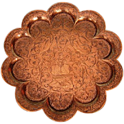19th Century Anglo Indian Brass Tray