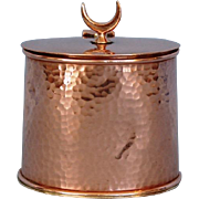 Vintage English Hammered Copper Tea Caddy by Picards Ltd London