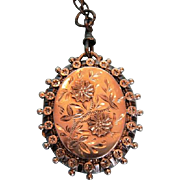 19th Century Victorian Sterling Silver Hand-engraved Locket by Robert James Dick