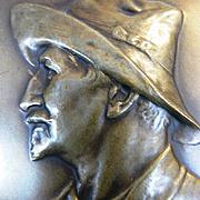 19th Century Belgian Signed Bronze Medal Commemorating Belgian Explorer Alex Delcommune