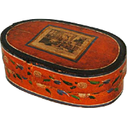 Early 20th Century Swedish Hand-painted Svepask or Tine Box
