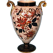 Turn of the Century English Earthenware Imari Vase by F. Winkle & Company