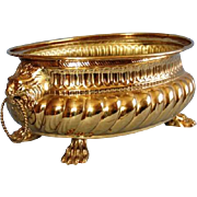 Early 19th Century Dutch Brass Wine Cooler or Jardinière
