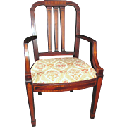 Antique American Mahogany Set 12 Matching Dining Chairs Circa 1900 Cowan Co.