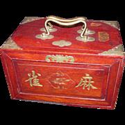 SOLD Vintage Chinese Mah Jong Set with Box Circa 1930