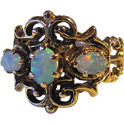 Vintage Victorian Style 14K Opal Ring