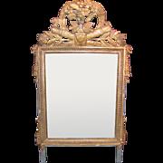 Antique French Louis XVI Gilt Mirror Circa 1780