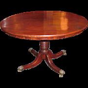 Antique English Regency Mahogany Tilt Top Breakfast Table Circa 1825