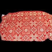 Antique American Homespun Wool Coverlet Circa 1850