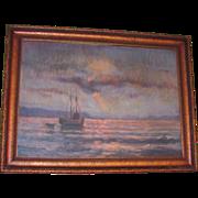 Northwest Impressionist Oil on Canvas Painting Circa 1920