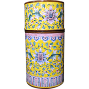 Antique Chinese Enamelware Cylinder Box 18th Century