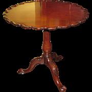 Antique English Mahogany Chippendale Tilt Top Tea Table Circa 1770