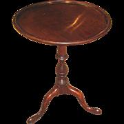 Antique English Georgian Mahogany Candlestand Circa 1810