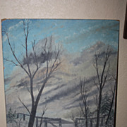 SALE Painting Oil George Tirrell  (1826 - 1877) Original Listed Artist