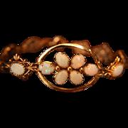 SALE Opal Bracelet Genuine Rolled Gold 1/20 12K Reds