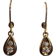 SALE Diamond Earrings Dangle YG