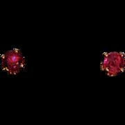SALE 14k Ruby Earrings Rubies