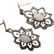SALE Genuine Opal Earrings Filigree