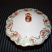 SALE Vintage Jacob Hertel Porcelain China Candy Dish Bowl Centerpiece