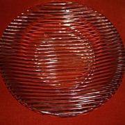 SALE Cive Italian Hand Crafted Glass Serving Plate Platter Centerpiece Tuscany Serving ...