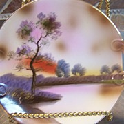 SALE Vintage Old Noritake Plate Scene Lake Display