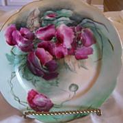 SALE Antique Limoges JPL Jean Pouyat Limoges Plate Roses