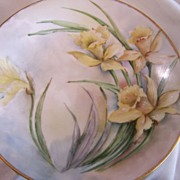 SALE Limoges Scene T & V Plates (5) Set Signed Dated Hand Painted