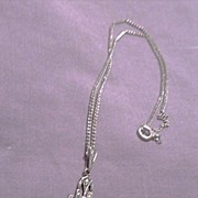 SALE Vintage Child's Cameo Necklace Pendant Chain Onyx Marcasites Sterling Silver Art Deco ...