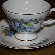 SALE Vintage Royal Imperial English China Demitasse Cup Saucer Set
