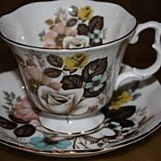 SALE Vintage English China Demitasse Cup Saucer Set Royal Albert