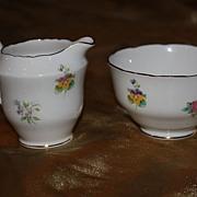 SALE Vintage English China Royal Staffordshire Cream Sugar Bowl