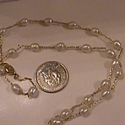 SALE PENDING Vintage Freshwater Pearls Necklace Gold Filled Chain