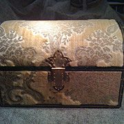 SALE Vintage Tapestry Box Trunk Estate Nice