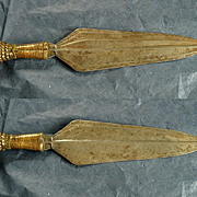 SALE Antique Sword Knife Dagger African Congo Colonial Brass
