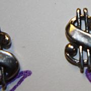 SALE Vintage $ Cash Money Sign Stud Earrings Unisex Sterling