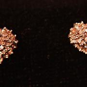 "SALE Diamond Earrings Stud Posts Cluster 10k  ""Special Price"""