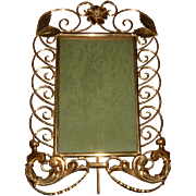 Antique English Brass Ring Frame Rare Design #2