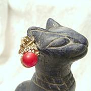 SALE Sweet Moonglow Lucite Berry Earrings by Dafri