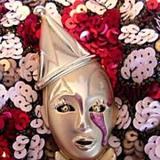 SALE Fantastic 1980's New Romantic Harlequin Brooch