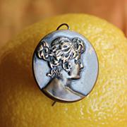 SALE Utterly Feminine Victorian Art Nouveau Copper Button Earrings