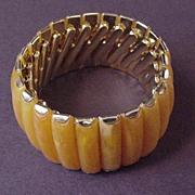 Vintatge Jewelry Expandable Plastic Bangle Bracelet