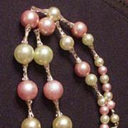 Vintage Colorful  Fringe Dangle Lavalier Styled Necklace