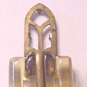Art Deco Apple Juice Bakelite and Brass Dress Clip
