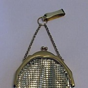 Whiting  Davis Pristine Vintage Gold Mesh Purse