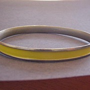 Napier Vintage Yellow Bangle Bracelet